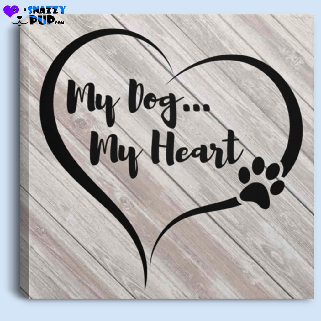 My Dog My Heart - Canvas Art - Housewares