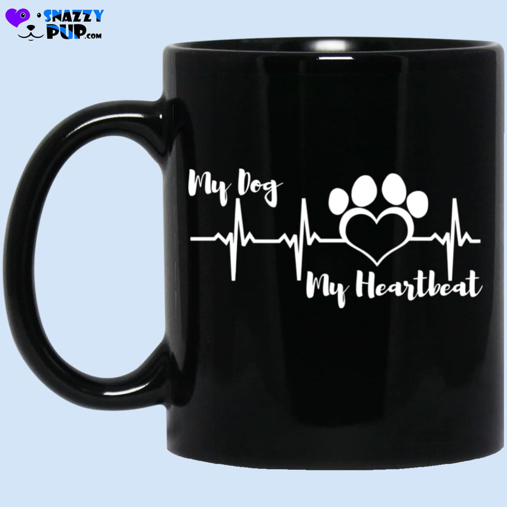 My Dog My Heartbeat Coffee Mug - Apparel