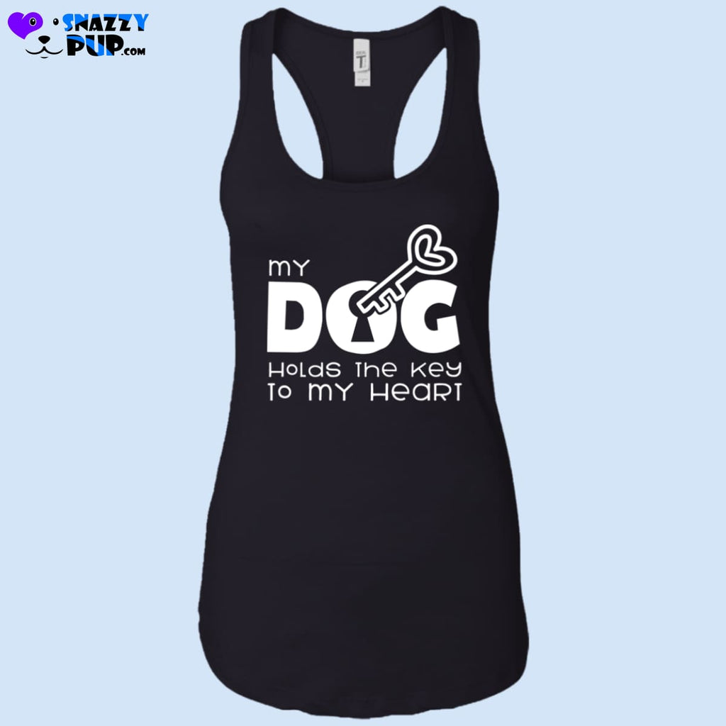My Dog Holds The Key To My Heart - Womens Tank Tops - T-Shirts