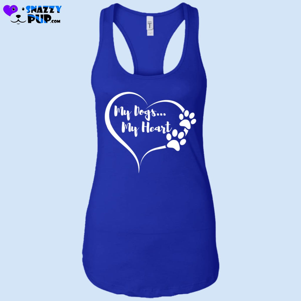 My Dogs My Heart - Womens Tank Tops - T-Shirts