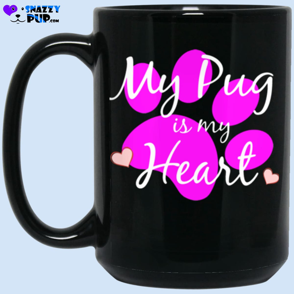 My Pug Is My Heart - Apparel