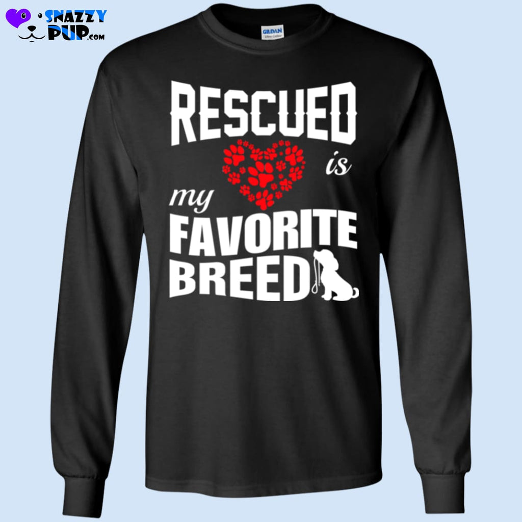 Rescued Is My Favorite Breed - T-Shirts