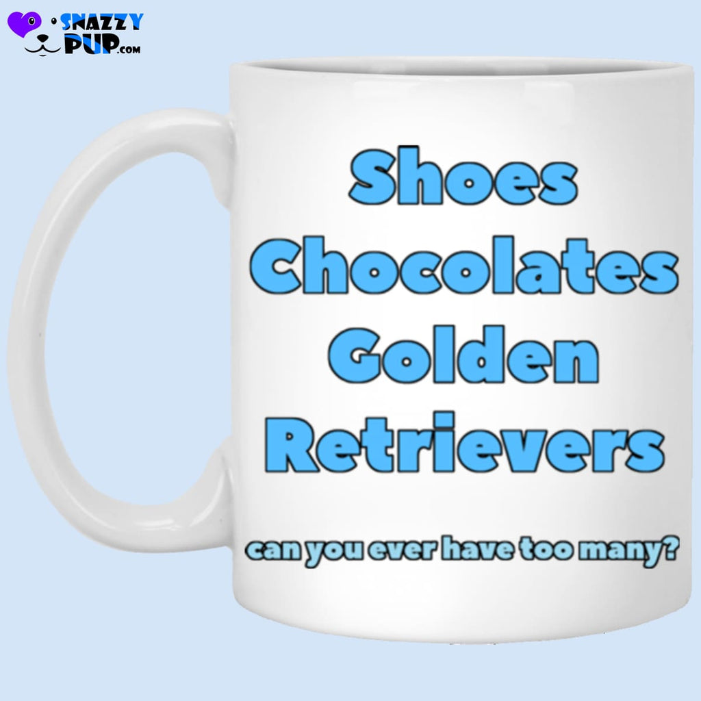 Shoes Chocolates Golden Retrievers....can You Ever Have Too Many - Apparel