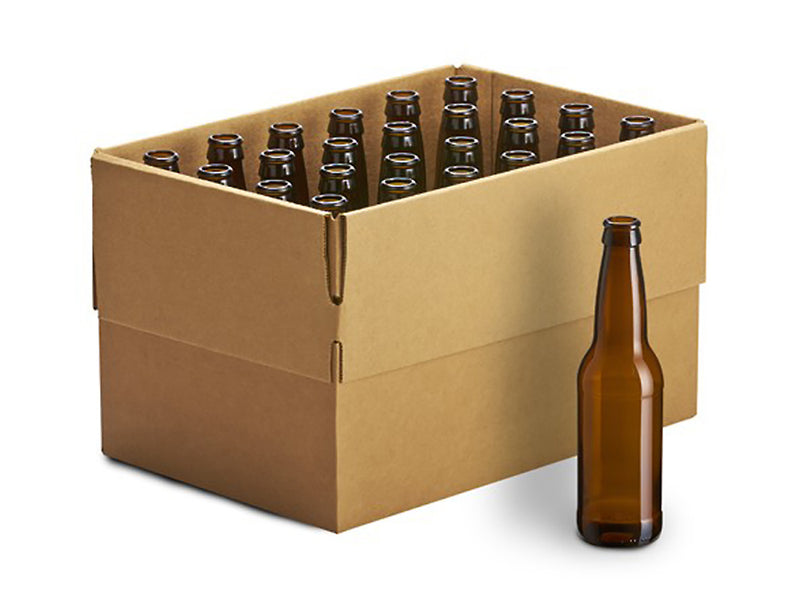12 oz Amber Bottles - 24/case