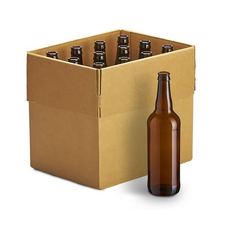 22 oz Amber Bottles - 12/case