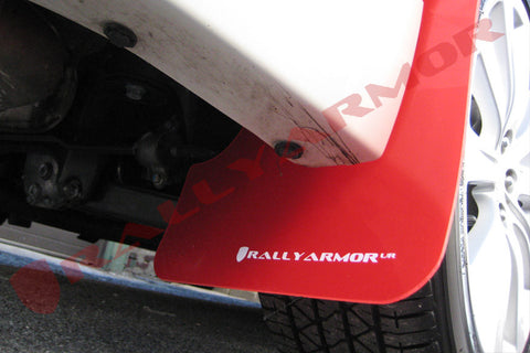 08-11 2.5i & 08-10 WRX Red Mud flap White logo
