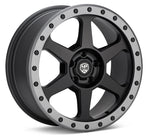 LP Aventure wheels - LP3 - 17x8 ET38 5x100 - Black W/Grey ring