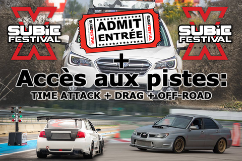 Billet/Tickets + Tarmac Attack + drag + Off-road  - Subiefestival 2019