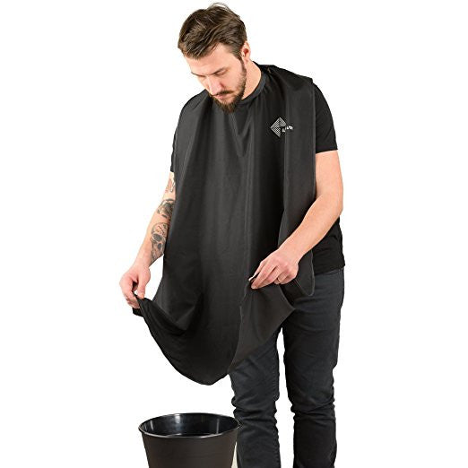 Mens beard trimming apron
