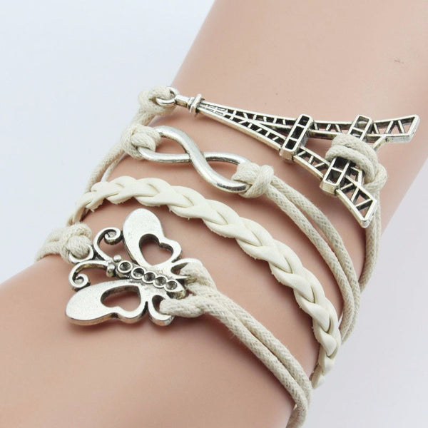 Infinity Vintage Multi-Color/style Woven Leather Bracelets & Bangles FREE JUST PAY SHIPPING!