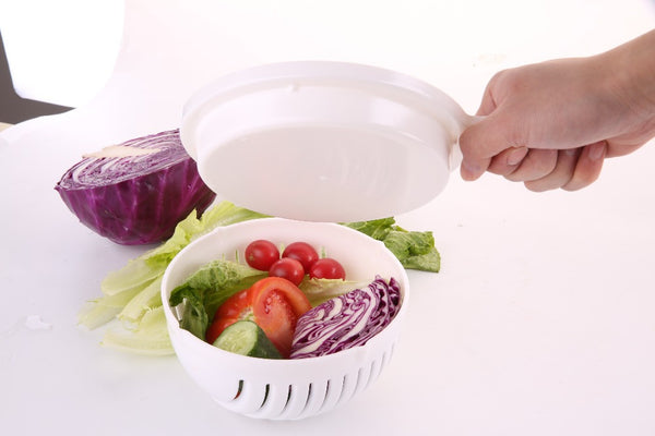 60 SECOND SALAD MAKER AND STRAINER