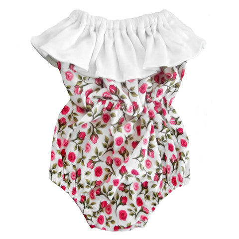 Ruffled English Rose Romper