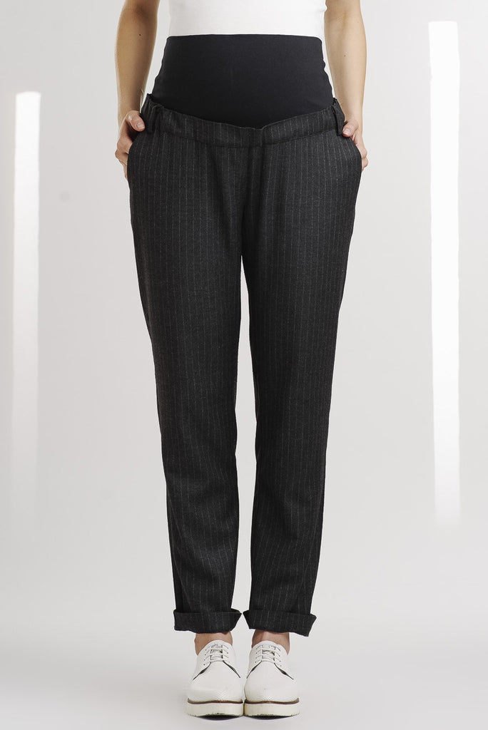 Pantalon Tweed Rayé-Pantalon-Tale Me