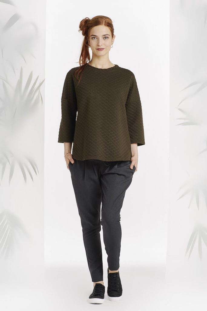 Pull structuré olive-Pull-Tale Me