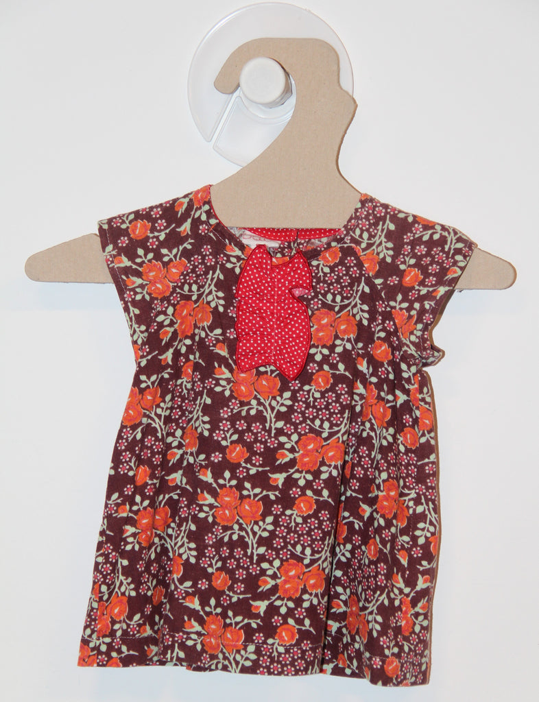 Robe Brune à Fleurs Orange-Robe-Tale Me