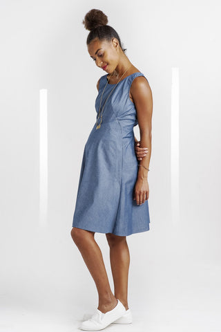 Robe Chambray Bleue-Robe-Tale Me