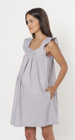 Robe Cotonnade Ample Bleu Or-Robe-Tale Me
