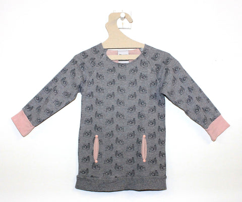 Robe Pull Raton Laveur Rose/Gris-Robe-Tale Me
