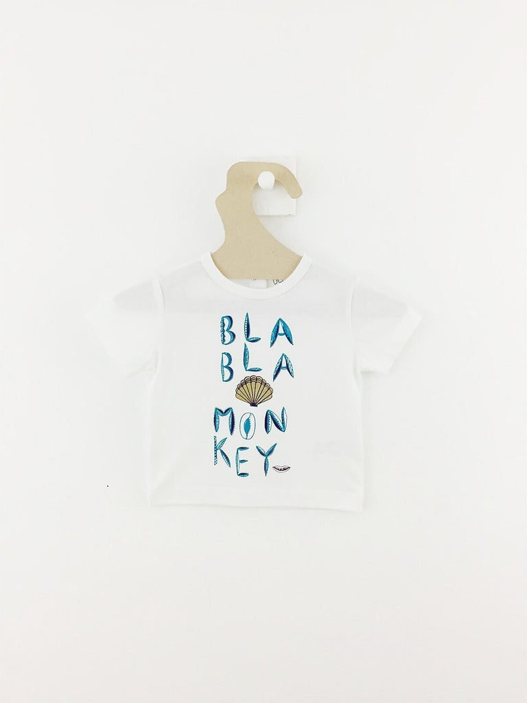 T-shirt Bla Bla Monkey-T-Shirt manches courtes-Tale Me