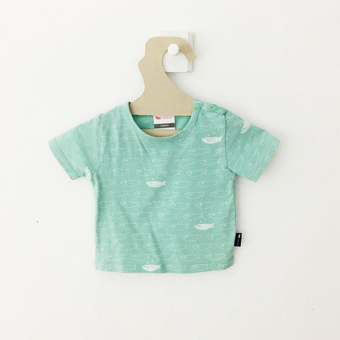 T-shirt Petits Poissons Turquoise-T-Shirt manches courtes-Tale Me