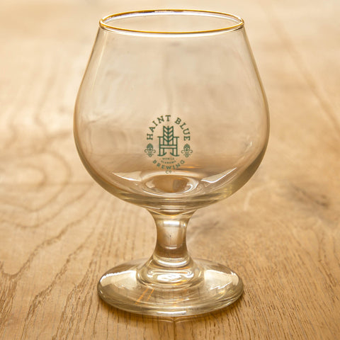 Gold Rimmed Snifter Glass