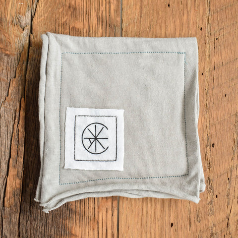 Gray Organic Cotton Coasters