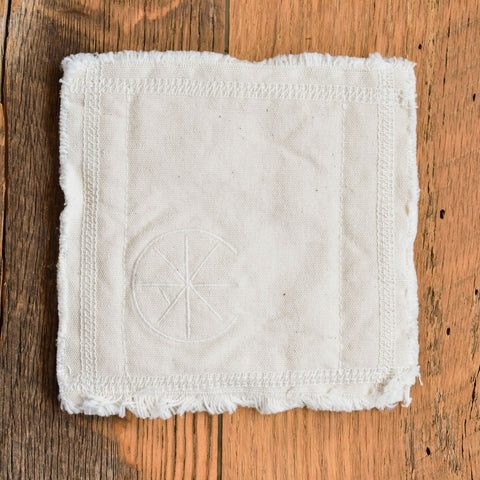 Top-Stitch Organic Cotton Coasters