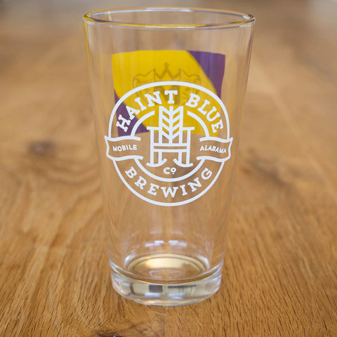 Mardi Gras Pint Glass