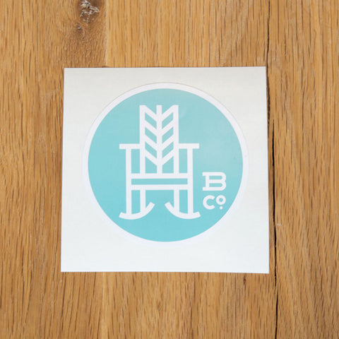 Haint Blue Logo Sticker #2