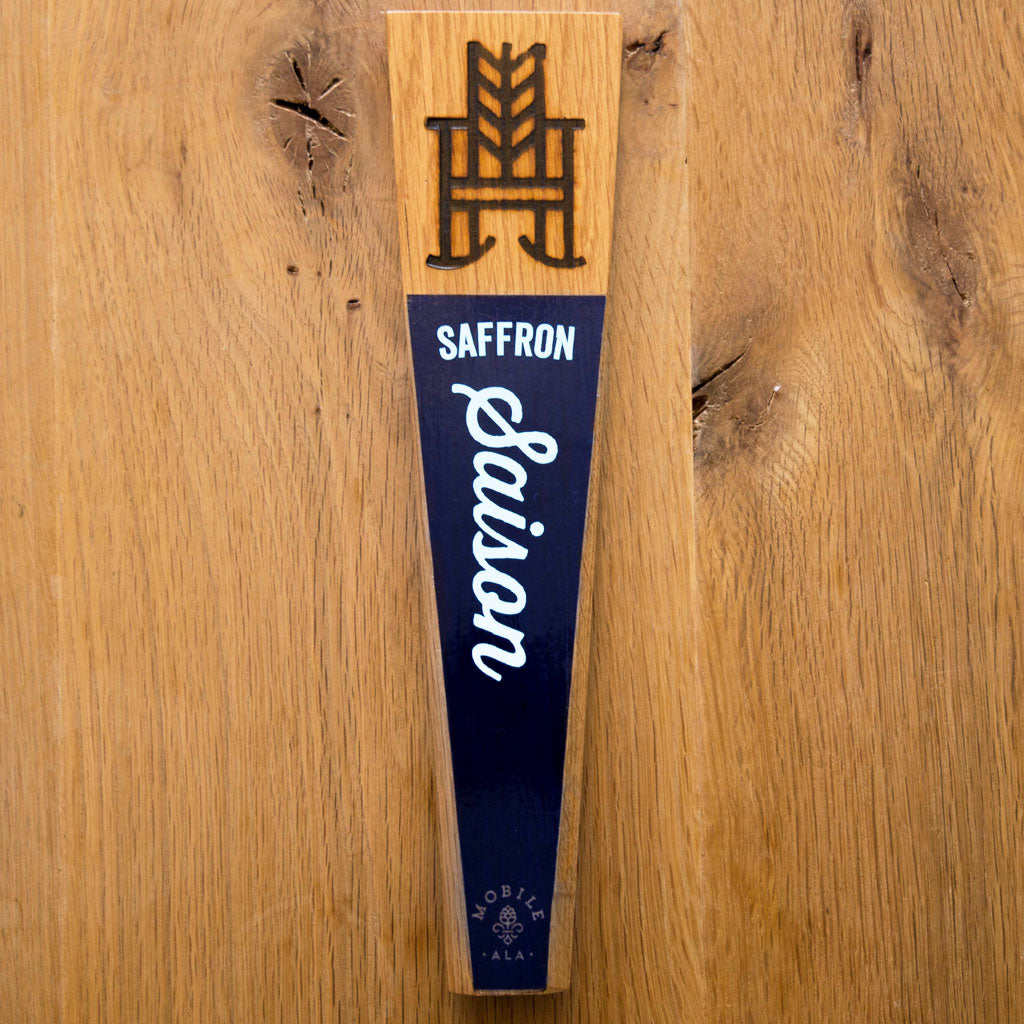 Saffron Saison Tap Handle