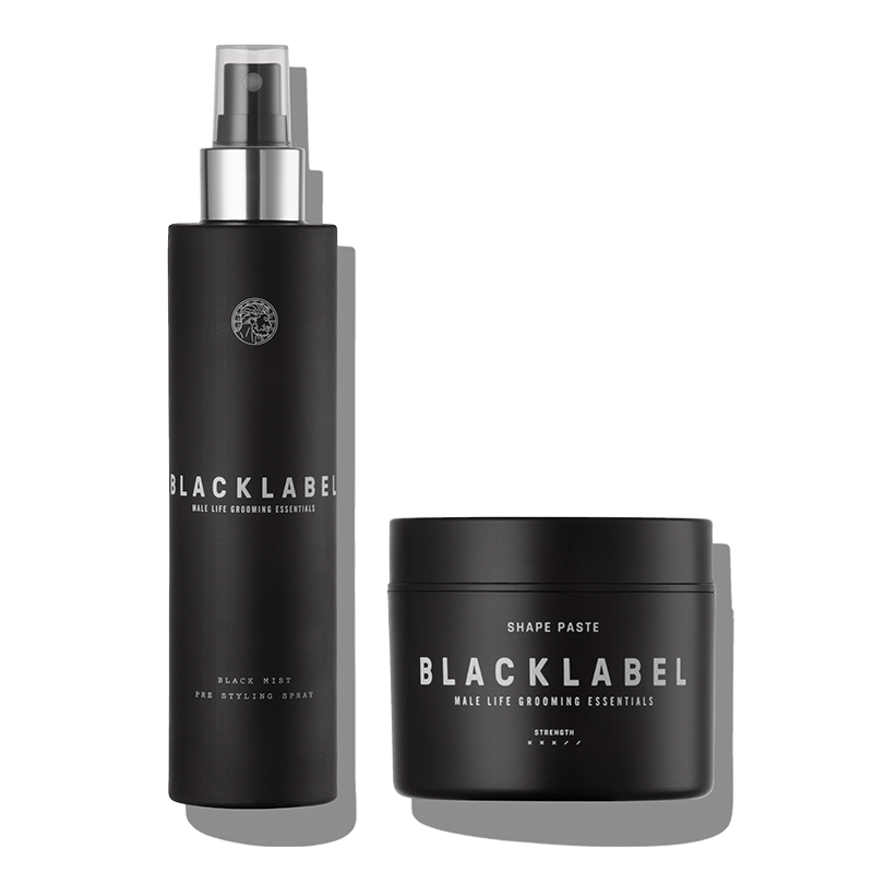 Black Label Grooming Mens Hair Products Luxury British Haircare