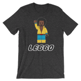 Leggo White Text Short-Sleeve Unisex T-Shirt