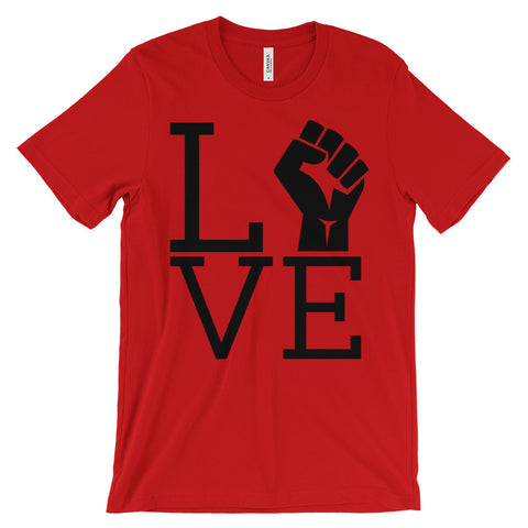 Exclusive Love Power (2XL+) - Unisex Short Sleeve T-Shirt