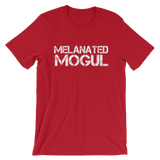 Melanated Mogul White Text Short-Sleeve Unisex T-Shirt