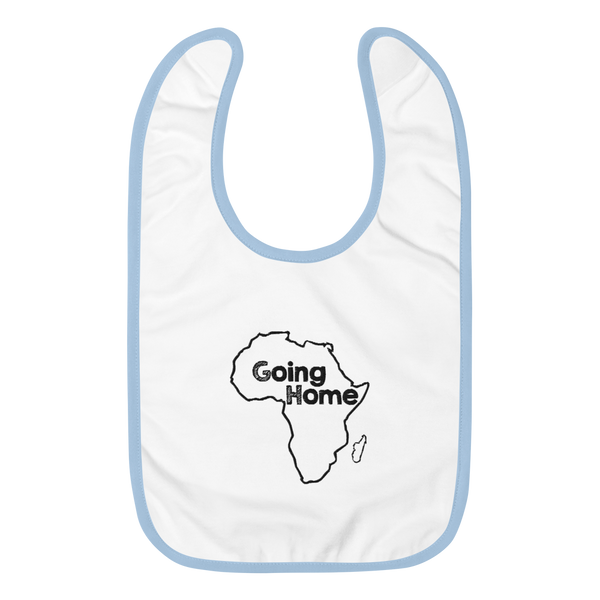 Going Home Embroidered Baby Bib