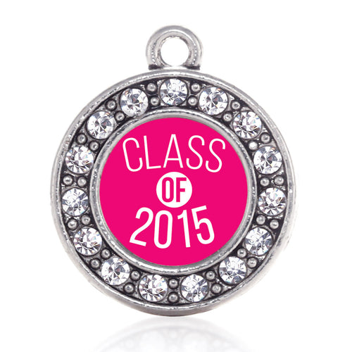Class of 2015 Hot Pink Circle Charm