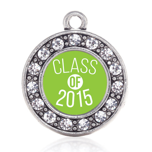 Class of 2015 Lime Green Circle Charm