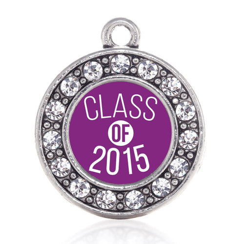 Class of 2015 Purple Circle Charm