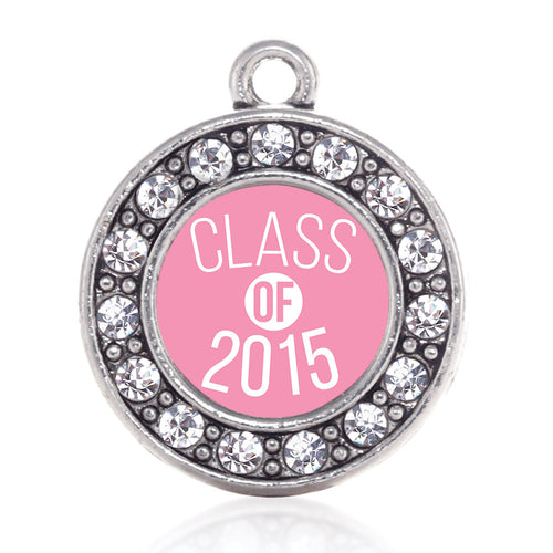 Class of 2015 Light Pink Circle Charm