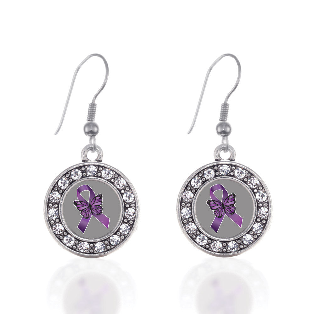 Fibromyalgia Awareness Circle Charm