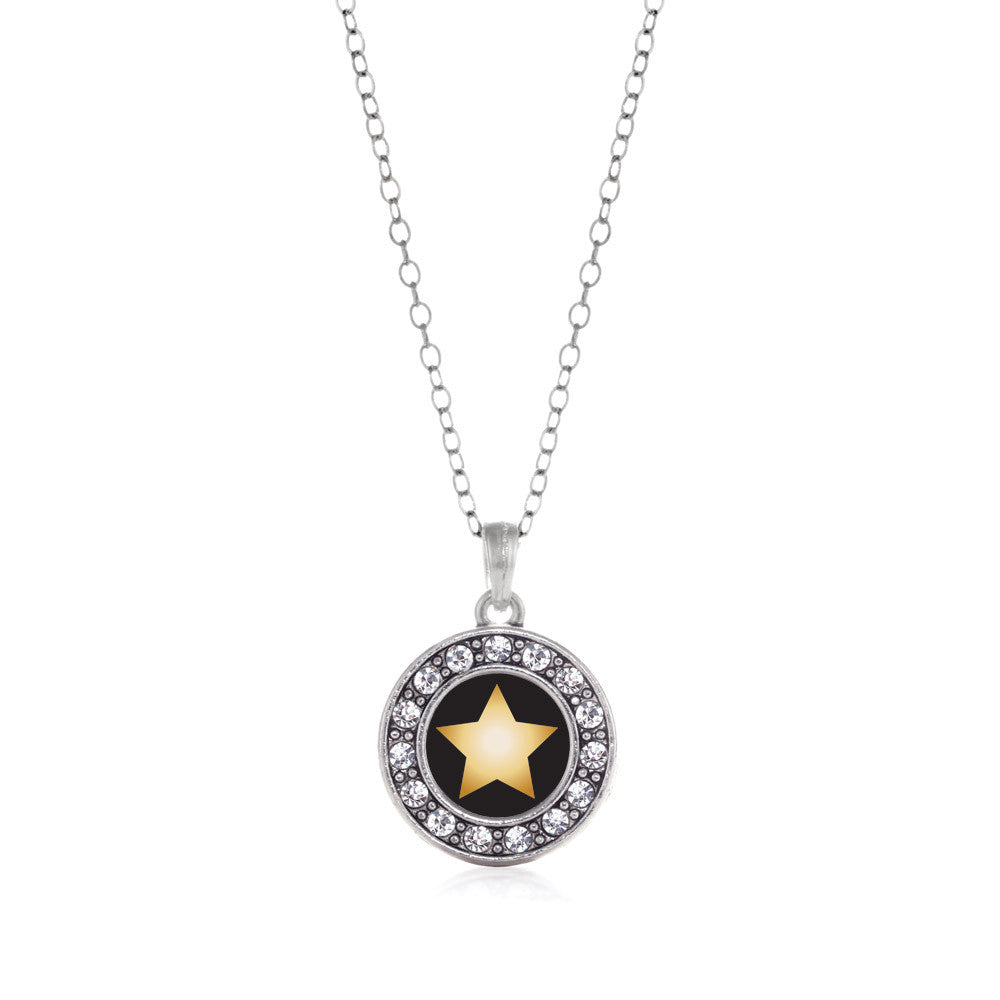 Golden Star Circle Charm