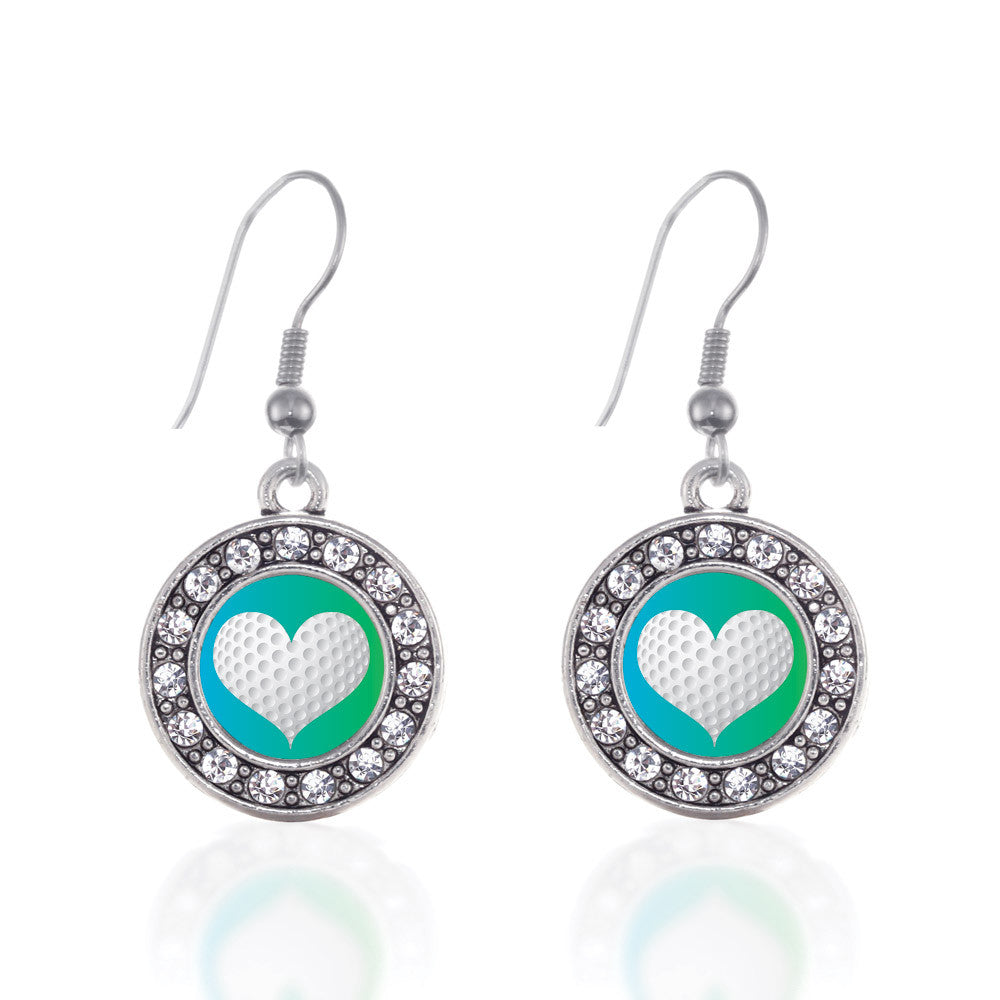 Heart Of A Golfer Circle Charm