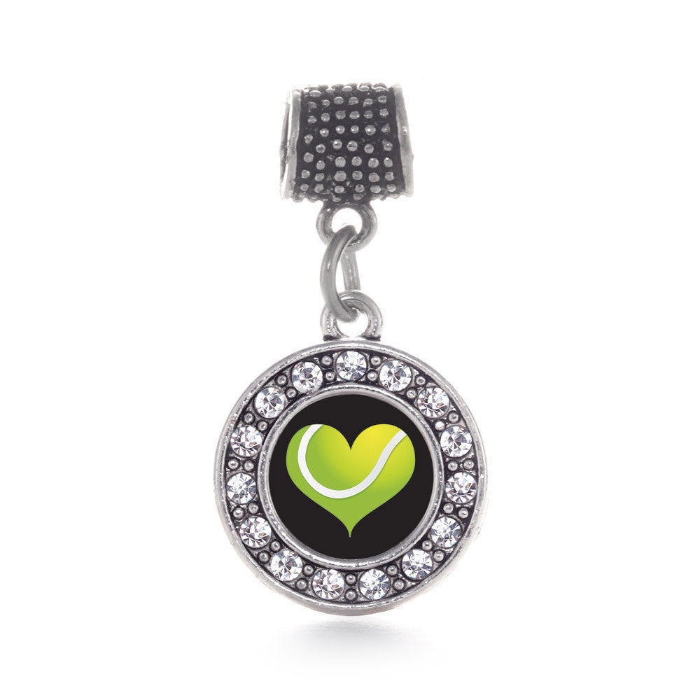 Heart Of A Tennis Player Circle Charm