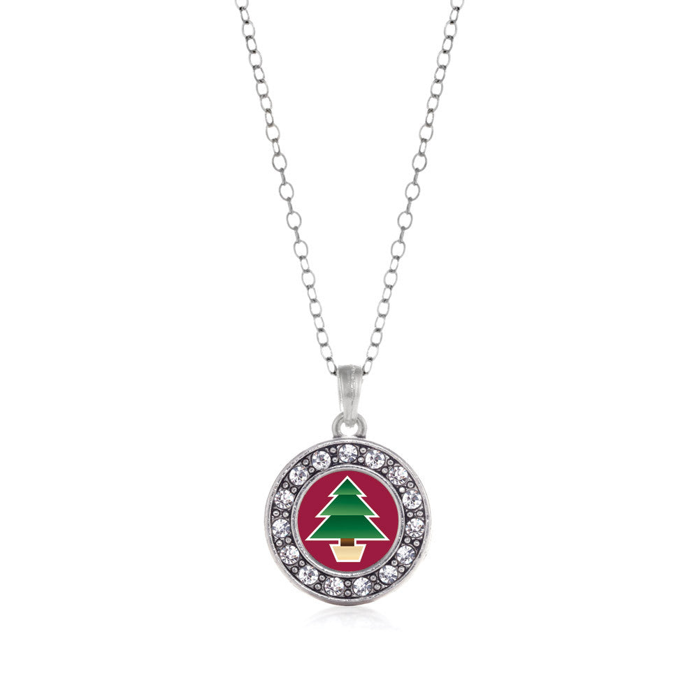 Holiday Tree Circle Charm
