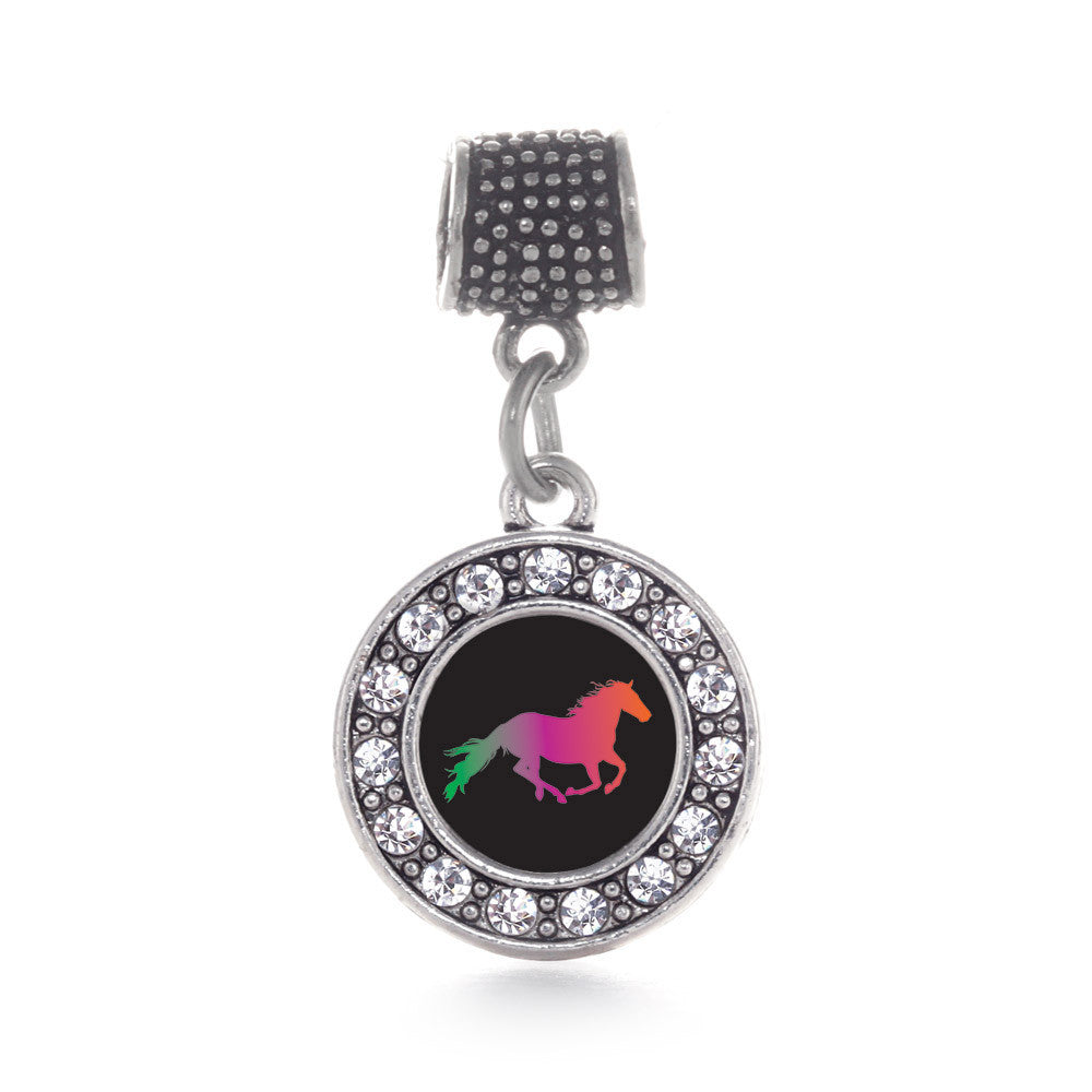 Horse Lovers Circle Charm