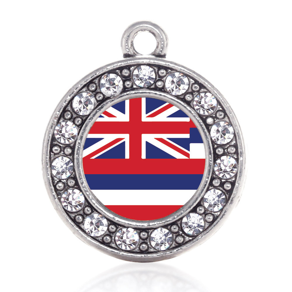 Hawaii Flag Circle Charm