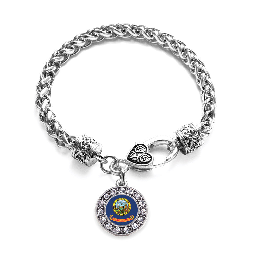 Idaho Flag Circle Charm