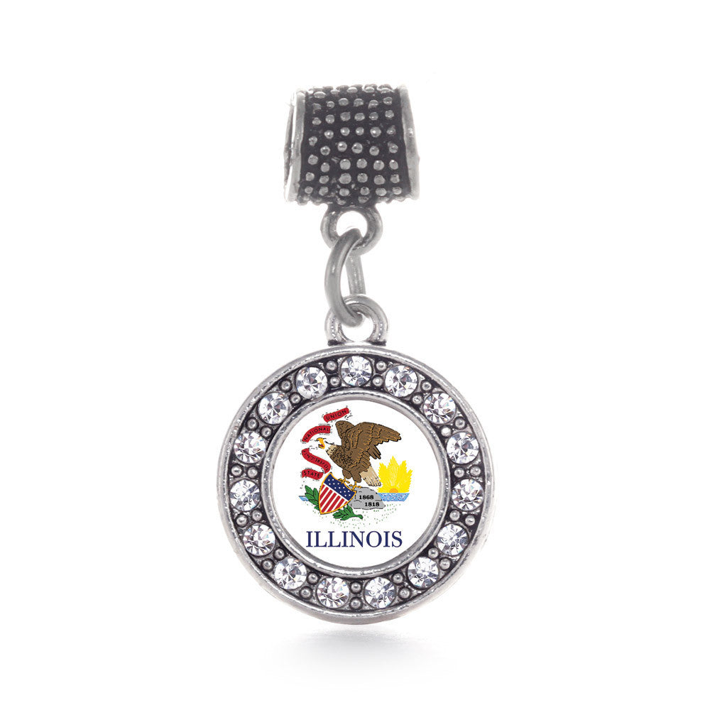 Illinois Flag Circle Charm