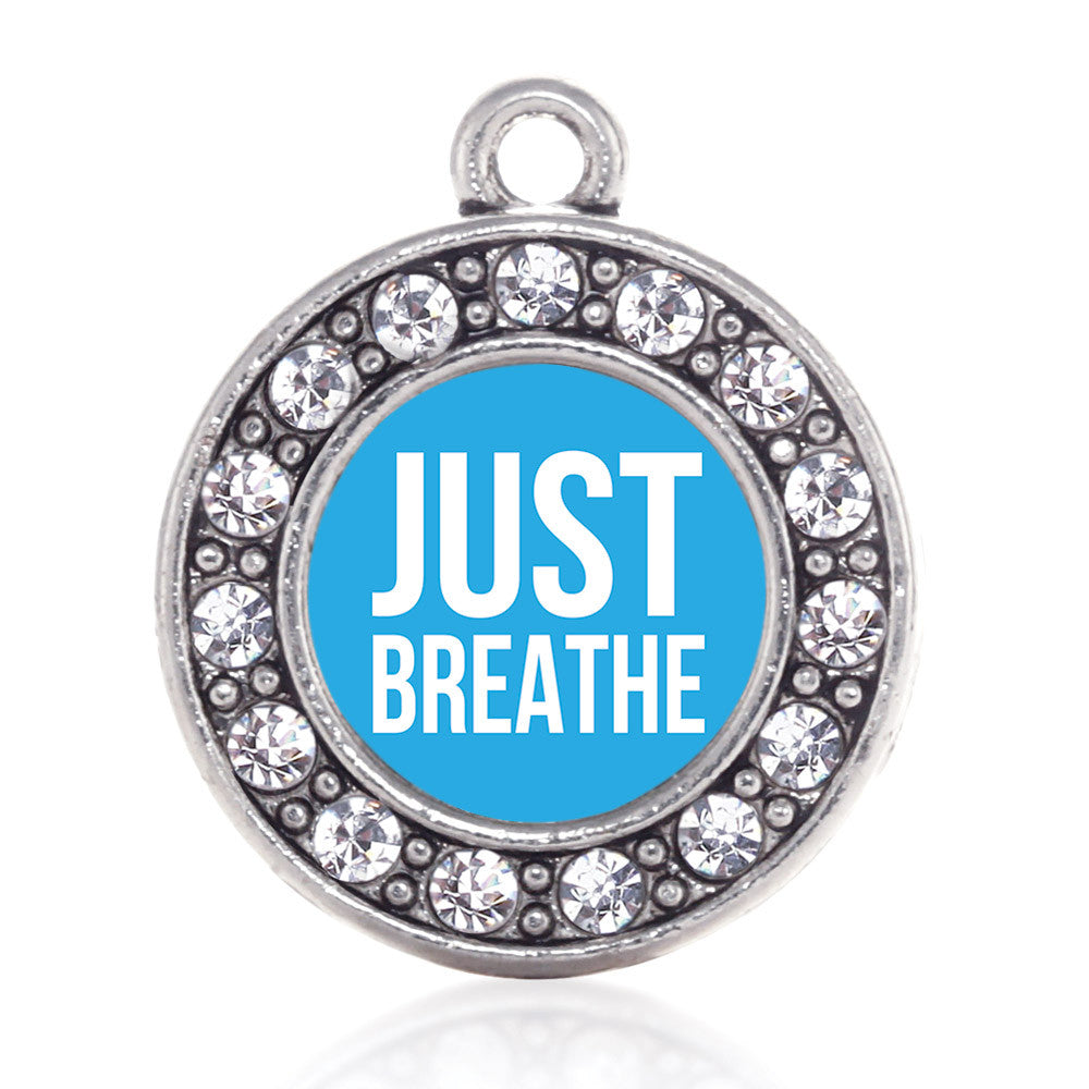 Just Breathe Circle Charm