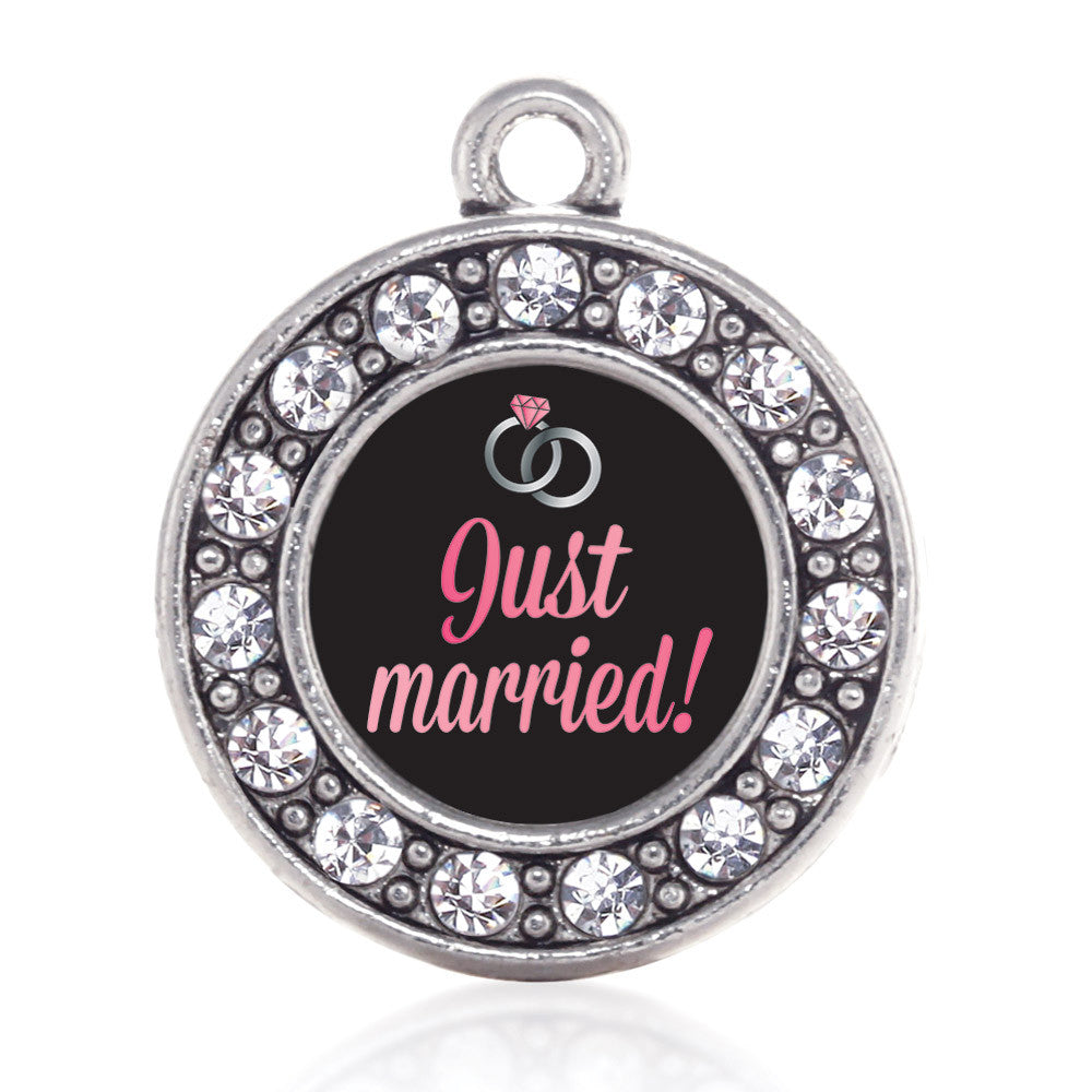 Just Married Circle Charm